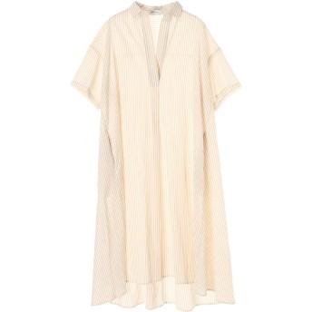 【6,000円(税込)以上のお買物で全国送料無料。】スキッパービッグシャツワンピース