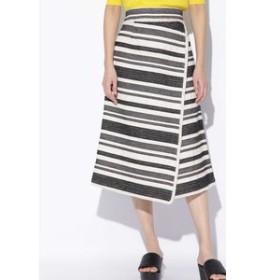 【SALE開催中】【H/standard:スカート】ジャガードボーダーフリンジスカート