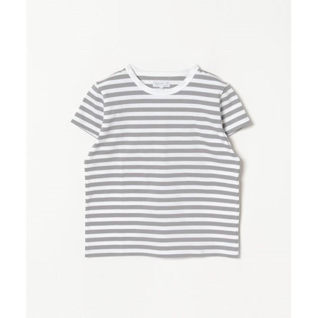 アニエスベー J008 TS ボーダーTシャツ レディース ホワイト×グレー 1 【agnes b.】