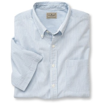 メンズ・シアサッカー・シャツ、半袖 ストライプ/Men's Seersucker Shirt Short Sleeve Stripe
