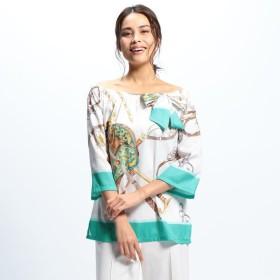 [マルイ]【セール】スカーフ柄オフショルダーブラウス/ナラカミーチェ(NARACAMICIE)