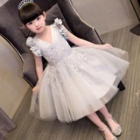 e774445f42968 100-160子供ドレス フォーマル ドレス 演出 お姫様 お嫁さん フラワーガール ドレス ジュニア ワンピース