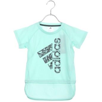 アディダス adidas ジュニア 半袖機能Tシャツ GTRNボタニカルロゴロングTシャツ DU9818