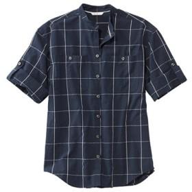 シグネチャー・シアサッカー・ボーイフレンド・シャツ、半袖/Signature Seersucker Boyfriend Shirt Short-Sleeve
