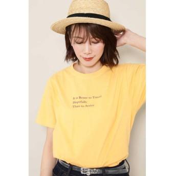 【60%OFF】 ローズバッド カラーロゴTシャツ レディース イエロー 【ROSE BUD】 【セール開催中】