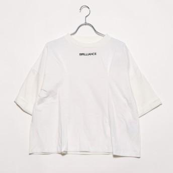 スタイルブロック STYLEBLOCK 30sコーマ天竺ロゴ刺繍タックTシャツ (ホワイト)