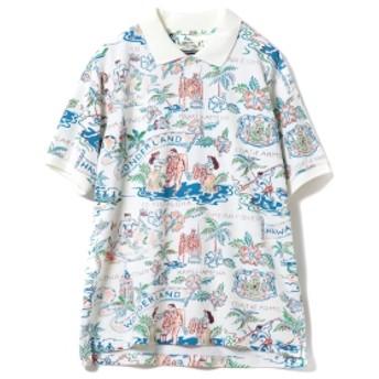 【予約】SUN SURF×BEAMS GOLF / 別注 ハワイアン カノコ ポロシャツ メンズ ポロシャツ WHITE S