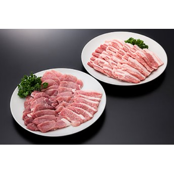 18-[6]山形県産豚モモ&バラ焼肉セット(計1000g)