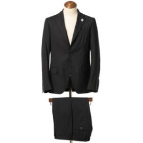LARDINI / 別注 EASY WEAR ソリッド 3ボタンスーツ メンズ スーツ BLACK/306 50