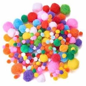 おもちゃ セット フェルト玉 カラフル ポンポン ボール 装飾品 飾り DIY用[AJEW-PH0001-M](ミックス)
