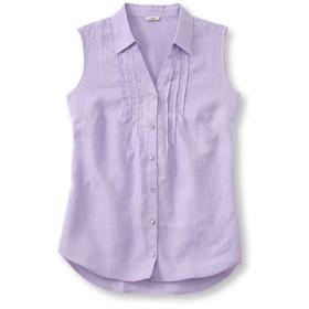 ジャパン・フィット プレミアム・ウォッシャブル・リネン・シャツ、袖なし/Japan Fit Premium Washable Linen ShirtSleeveless