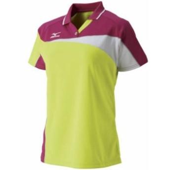 ドライサイエンスゲームシャツ (ラケットスポーツ) (レディース)【MIZUNO】ミズノテニス ウエア ゲームウエア (62JA7213)