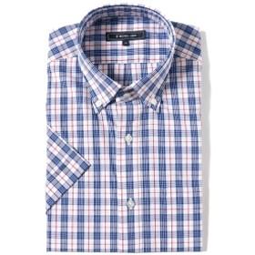 B:MING by BEAMS / チェック ボタンダウン ショートスリーブ シャツ メンズ ドレスシャツ R.BLUE O/CHK XL
