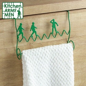 タオルハンガー 引っ掛け式 Kitchen ARMY MEN スチール製 ( タオル掛け タオルバー タオルホルダー )