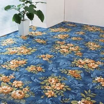 はっ水 はつ油 加工 花柄 カーペット 2畳用 カーペット ラグ マット ラグマット センターラグ 絨毯 じゅうたん