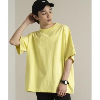 WEGO WEGO/ヘビースラブビッグTシャツ(イエロー)【返品不可商品】