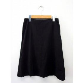 プロポーション ボディドレッシング PROPORTION BODY DRESSING スカート ボトムス 台形 ジップ 膝丈 コットン 綿 2 ブラック
