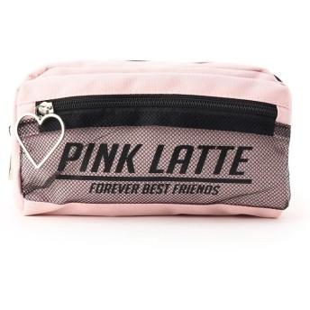 PINK-latte(ピンク ラテ) メッシュ・ハートフープポーチ