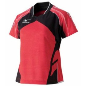 ゲームシャツ(2014年日本代表モデル)(レディース)(62レッド)【MIZUNO】ミズノ卓球 ウエア(82JA430162)
