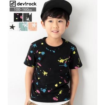 devirock デビロック 総柄 半袖 Tシャツ