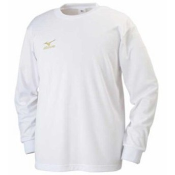 Tシャツ(長袖)(01ホワイト)【MIZUNO】ミズノトレーニングウエア ミズノクロスティック Tシャツ/ポロシャツ(32ja613201)