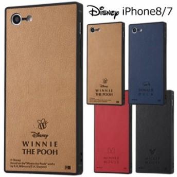 iPhone8 iPhone7 ディズニー PUレザー 耐衝撃 スクエア ケース キャラクター ハードケース スマホケース アイフォン ミッキー ミニー