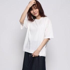 スタイルブロック STYLEBLOCK 30sコーマ天竺スリットTシャツ (ホワイト)