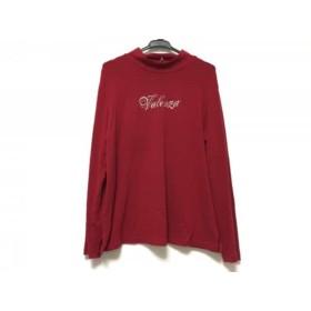 【中古】 バレンザ VALENZA 長袖Tシャツ サイズ44 L レディース レッド ハイネック/ラインストーン
