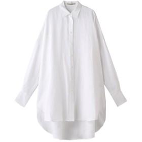 Curensology カレンソロジー リネンオーバーサイズシャツ ホワイト