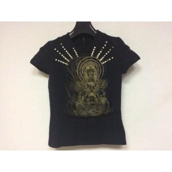 【中古】 ヴィヴィアンタム VIVIENNE TAM 半袖Tシャツ サイズO レディース 黒 ゴールド スパンコール