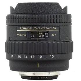TOKINA AT-X 107 DX Fish Eye 10-17mm/F3.5-4.5 キヤノンEOS [APS-Cサイズ用レンズ]
