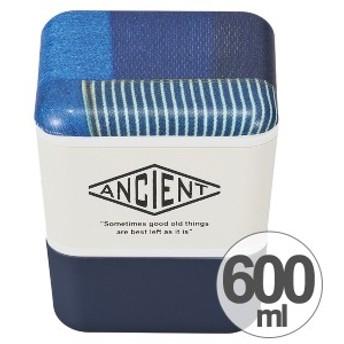 お弁当箱 ANCIENT スクエアネストランチ パッチワーク 2段 角型 600ml 保冷剤付 ランチベルト付