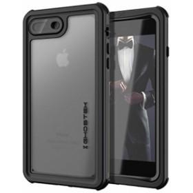 ゴーステック IP68防水防塵タフネスケース ノーティカル for iPhone8Plus/7Plus ブラック GHOCAS834