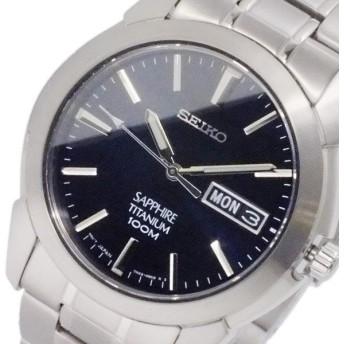セイコー SEIKO クオーツ メンズ チタニウム 腕時計 SGG729P1 ネイビー