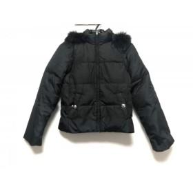【中古】 クレイサス CLATHAS ダウンジャケット サイズ38 M レディース 黒 ブルーフォックスファー/冬物