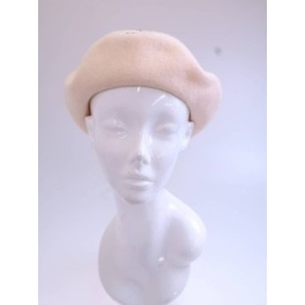 MILK(ミルク)MILK刺繍ウールベレー帽 白 レディース Aランク