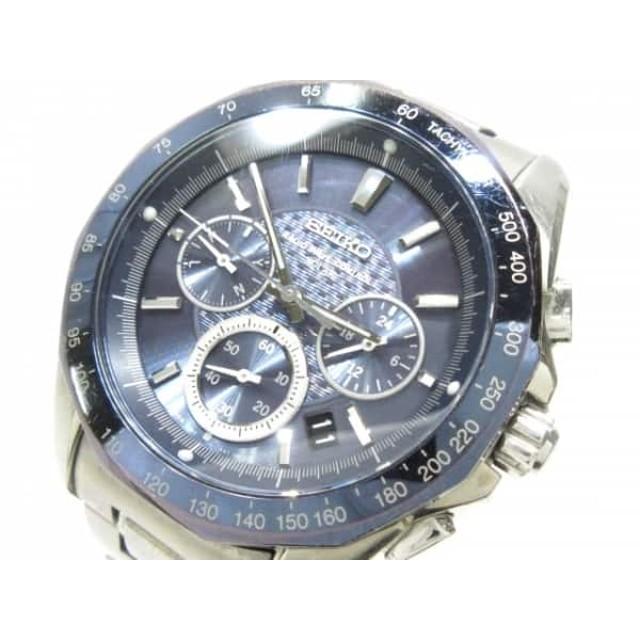 45f209b0fd 中古】 セイコー SEIKO 腕時計 ブライツ 8B82-0AA0 メンズ ネイビー 通販 ...