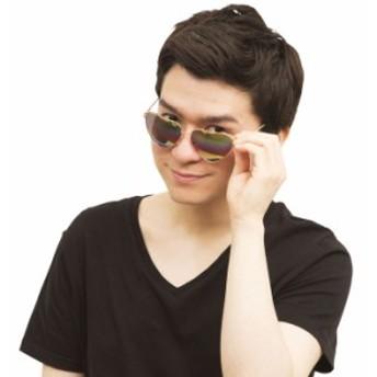 レインボー ハートサングラス 虹色 眼鏡 祭 イベント コスプレ グッズ 雑貨 小道具 派手 目立つ クリアストーン 4560320880318