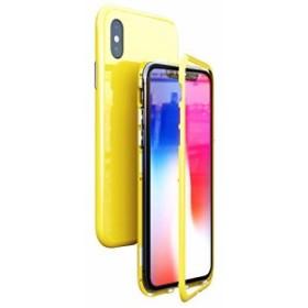 da36987f85 アイフォンX ケース uovon マグネット式 薄型 iPhone Xs ハードケース 強化ガラス背面板 ガラス