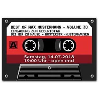 パロディ 雑貨 玄関 ルーム マット レトロ カセットテープ ノンスリップ 吸水 SW619(レッド)