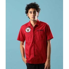 【30%OFF】 アヴィレックス ワーク シャツ シール チーム 5/WORK SHIRT SEAL TEAM 5 メンズ RED XL 【AVIREX】 【セール開催中】
