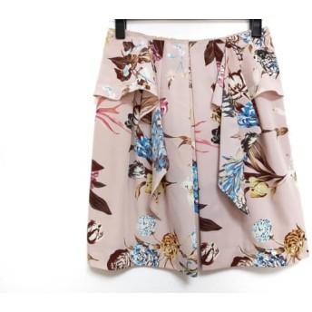 【中古】 フレイアイディー FRAY I.D スカート サイズ1 S レディース ピンク マルチ 花柄