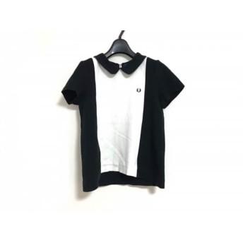 【中古】 フレッドペリー FRED PERRY 半袖カットソー サイズ10 L レディース 黒 白