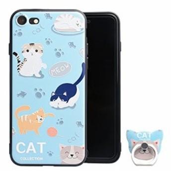 猫の島 iPhone 8ケース iPhone 8 カバー かわいい ねこ にゃんこ iPhone 8 保護ケース 超軽量 防指紋 柔軟型 ネコ iPh