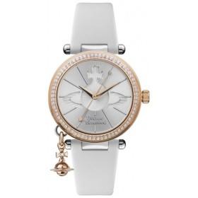 2cf7a7a93312 ヴィヴィアン ウエストウッド 時計 レディース 腕時計 揺れる オブチャーム クリスタル ホワイト 白 レザー VV006RSWH ビジネス 女性