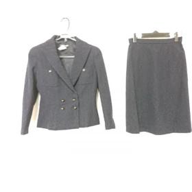 【中古】 シャネル CHANEL スカートスーツ サイズ40 M レディース P08916V05319 ダークネイビー ネイビー