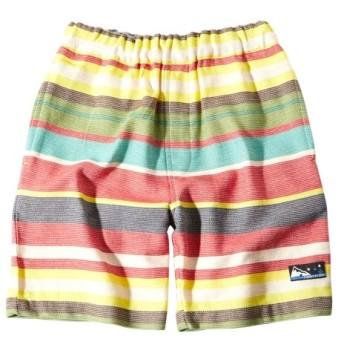 綿100% カラフルボーダーハーフパンツ(男の子 子供服。ジュニア服) パンツ