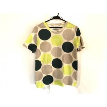 【中古】 ポールスミス PaulSmith 半袖Tシャツ サイズM レディース ベージュ グリーン ライトグリーン