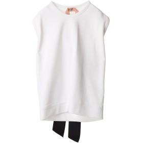 N°21 スウェットバックリボンプルオーバー Tシャツ・カットソー,ホワイト