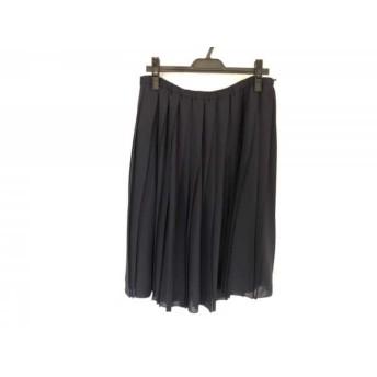 【中古】 ローズティアラ Rose Tiara スカート サイズ46 XL レディース 美品 ネイビー プリーツ
